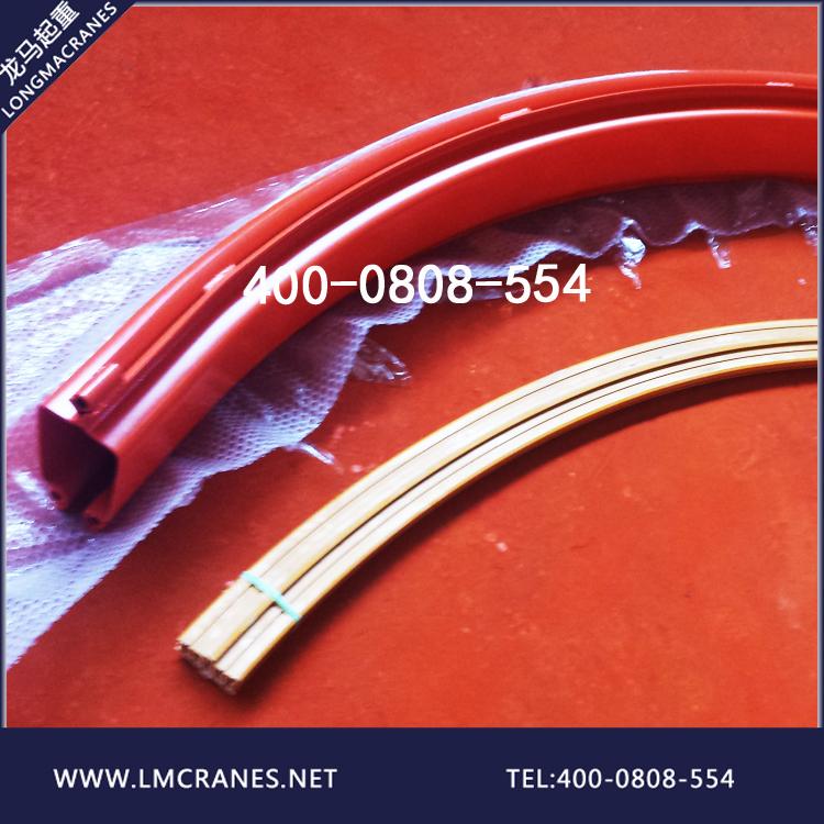 KBK内置滑触线安装应用,kbk弯轨